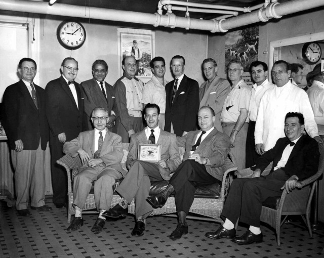 Bill Kotyk photographed the union barbers of Canonsburg in 1952. Below ...