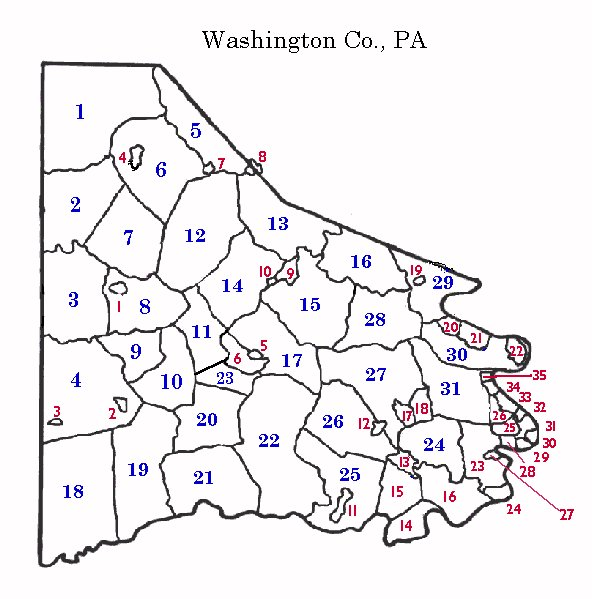 Washington Co., PA - Township/Borough Map